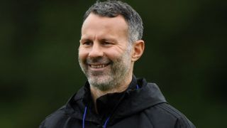 CARDIFF, WALES - OCTOBER 15:  Ryan Giggs, Manager of Wales smiles during a Wales training session at Vale Resort on October 15, 2018 in Cardiff, Wales.  (Photo by Stu Forster/Getty Images)