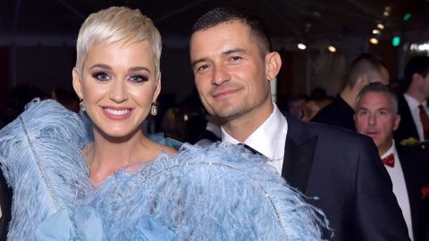 BEVERLY HILLS, CA - OCTOBER 18:  Mayor of Los Angeles Eric Garcetti, Katy Perry, and Orlando Bloom attend the amfAR Gala Los Angeles 2018 at Wallis Annenberg Center for the Performing Arts on October 18, 2018 in Beverly Hills, California.  (Photo by Stefanie Keenan/Getty Images for Perrier-Jouët and Absolut Elyx)