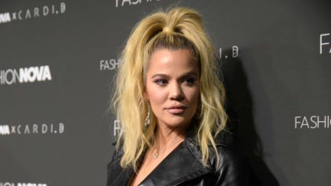 HOLLYWOOD, CA - NOVEMBER 14:  Khloe Kardashian attends the Fashion Nova x Cardi B collaboration launch event at Boulevard3 on November 14, 2018 in Hollywood, California.  (Photo by Michael Tullberg/WireImage)