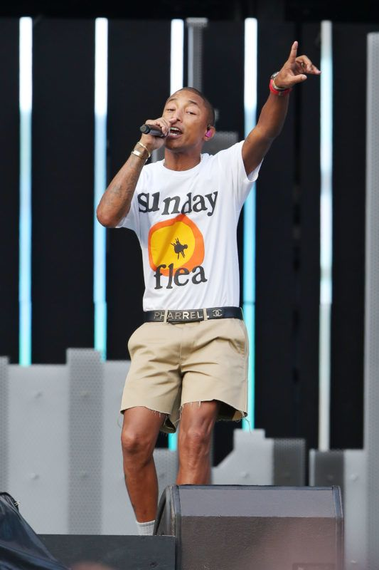 JOHANNESBURG, SOUTH AFRICA - DECEMBER 02:  Pharrell Williams performs during the Global Citizen Festival: Mandela 100 at FNB Stadium on December 2, 2018 in Johannesburg, South Africa.  (Photo by Jemal Countess/Getty Images for Global Citizen Festival: Mandela 100)