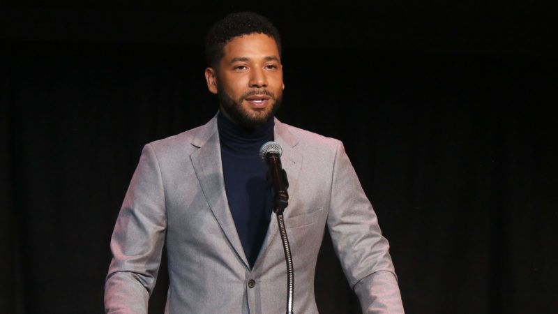 LOS ANGELES, CA - DECEMBER 06:  Jussie Smollett speaks at the Children's Defense Fund California's 28th Annual Beat The Odds Awards at Skirball Cultural Center on December 6, 2018 in Los Angeles, California.  (Photo by Gabriel Olsen/Getty Images)