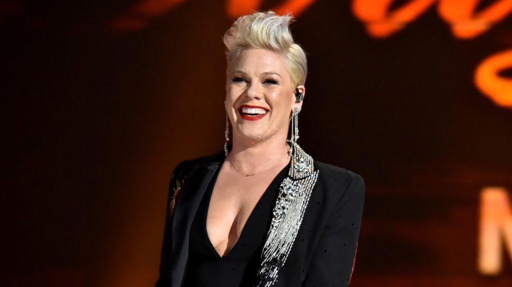 LOS ANGELES, CA - FEBRUARY 08:  P!nk performs onstage during MusiCares Person of the Year honoring Dolly Parton at Los Angeles Convention Center on February 8, 2019 in Los Angeles, California.  (Photo by Lester Cohen/Getty Images for The Recording Academy)
