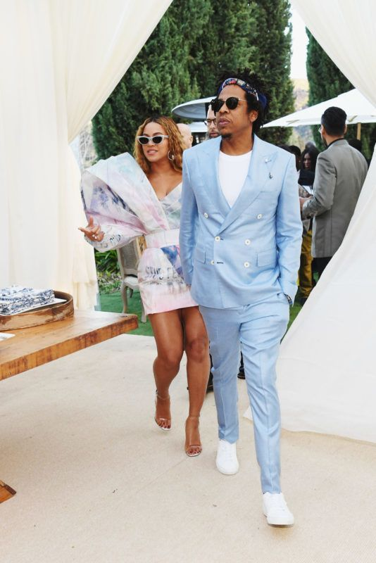 LOS ANGELES, CA - FEBRUARY 09:  Beyonce and Jay-Z attend 2019 Roc Nation THE BRUNCH on February 9, 2019 in Los Angeles, California.  (Photo by Kevin Mazur/Getty Images for Roc Nation )
