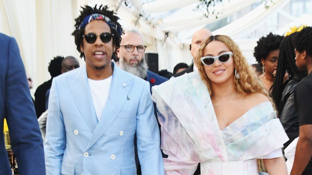 LOS ANGELES, CA - FEBRUARY 09:  Jay-Z and Beyonce attend 2019 Roc Nation THE BRUNCH on February 9, 2019 in Los Angeles, California.  (Photo by Kevin Mazur/Getty Images for Roc Nation )
