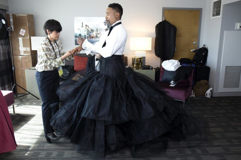 HOLLYWOOD, CALIFORNIA - FEBRUARY 24: Billy Porter prepares for the 91st Academy Awards at Lowes Hollywood Hotel on February 24, 2019 in Hollywood, California. (Photo by Santiago Felipe/Getty Images)