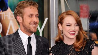"""NEW YORK, NY - JULY 19:  Actors Ryan Gosling (L) and Emma Stone walk the red carpet at the """"Crazy, Stupid, Love."""" World Premiere at the Ziegfeld Theater on July 19, 2011 in New York City.  (Photo by D Dipasupil/FilmMagic)"""