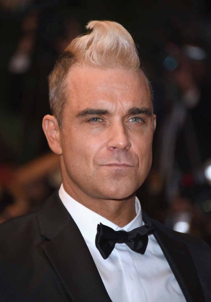 """CANNES, FRANCE - MAY 16:  Robbie Williams attends """"The Sea Of Trees"""" Premiere during the 68th annual Cannes Film Festival on May 16, 2015 in Cannes, France.  (Photo by Venturelli/WireImage)"""