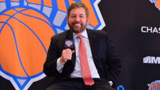 NEW YORK, NY - MARCH 18:  James Dolan attends New York Knicks press conference announcing Phil Jackson as team President at Madison Square Garden on March 18, 2014 in New York City.  (Photo by James Devaney/WireImage)