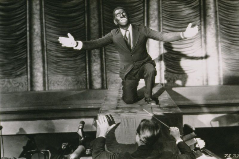 American singer and actor Al Jolson on the set of The Jazz Singer, directed by Alan Crosland. (Photo by Sunset Boulevard/Corbis via Getty Images)
