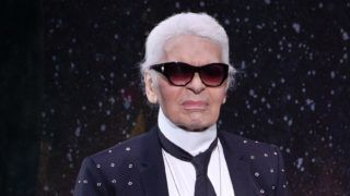 PARIS, FRANCE - JULY 05:  Karl Lagerfeld acknowledges the audience after the Fendi  Haute Couture Fall/Winter 2017-2018 show as part of Haute Couture Paris Fashion Week on July 5, 2017 in Paris, France.  (Photo by Peter White/Getty Images)