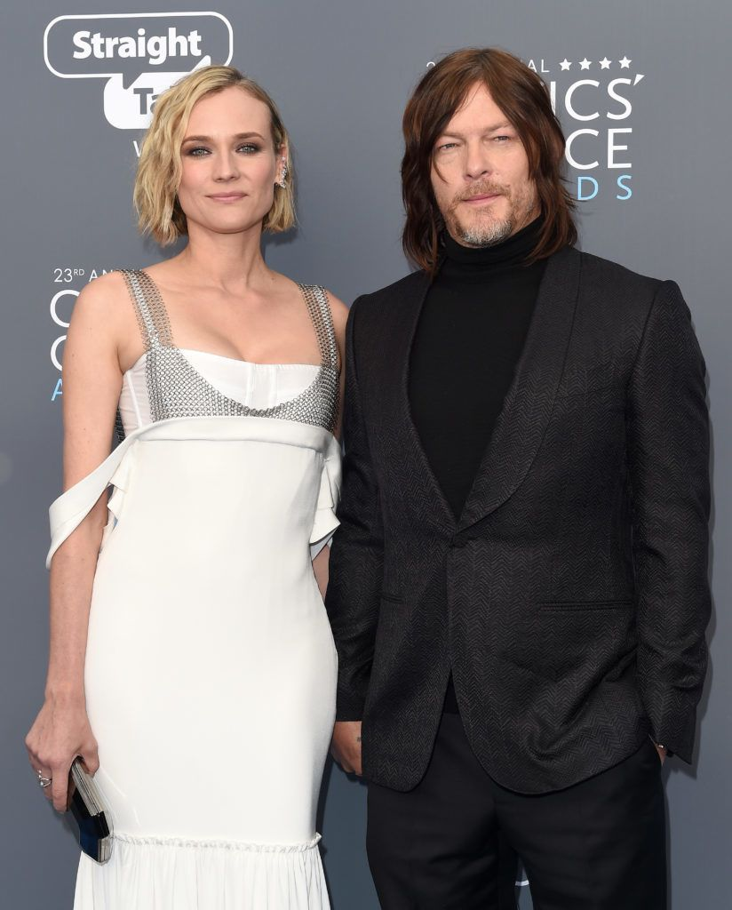 SANTA MONICA, CA - JANUARY 11:  Actors Diane Kruger and Norman Reedus attend the 23rd Annual Critics' Choice Awards at Barker Hangar on January 11, 2018 in Santa Monica, California.  (Photo by Axelle/Bauer-Griffin/FilmMagic)