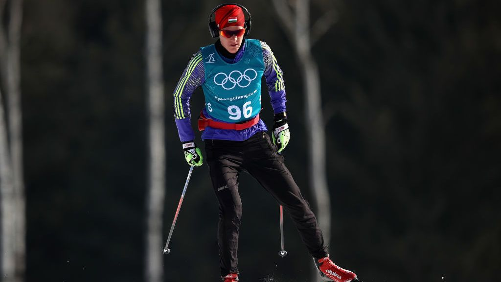 PYEONGCHANG-GUN, SOUTH KOREA - FEBRUARY 16:  Adam Konya of Hungary competes during the Cross-Country Skiing Men's 15km Free at Alpensia Cross-Country Centre on February 16, 2018 in Pyeongchang-gun, South Korea.  (Photo by Clive Mason/Getty Images)