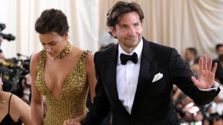 NEW YORK, NY - MAY 07: Irina Shayk and Bradley Cooper attend the Heavenly Bodies: Fashion & The Catholic Imagination Costume Institute Gala at The Metropolitan Museum of Art on May 7, 2018 in New York City.  (Photo by Mike Coppola/MG18/Getty Images for The Met Museum/Vogue)
