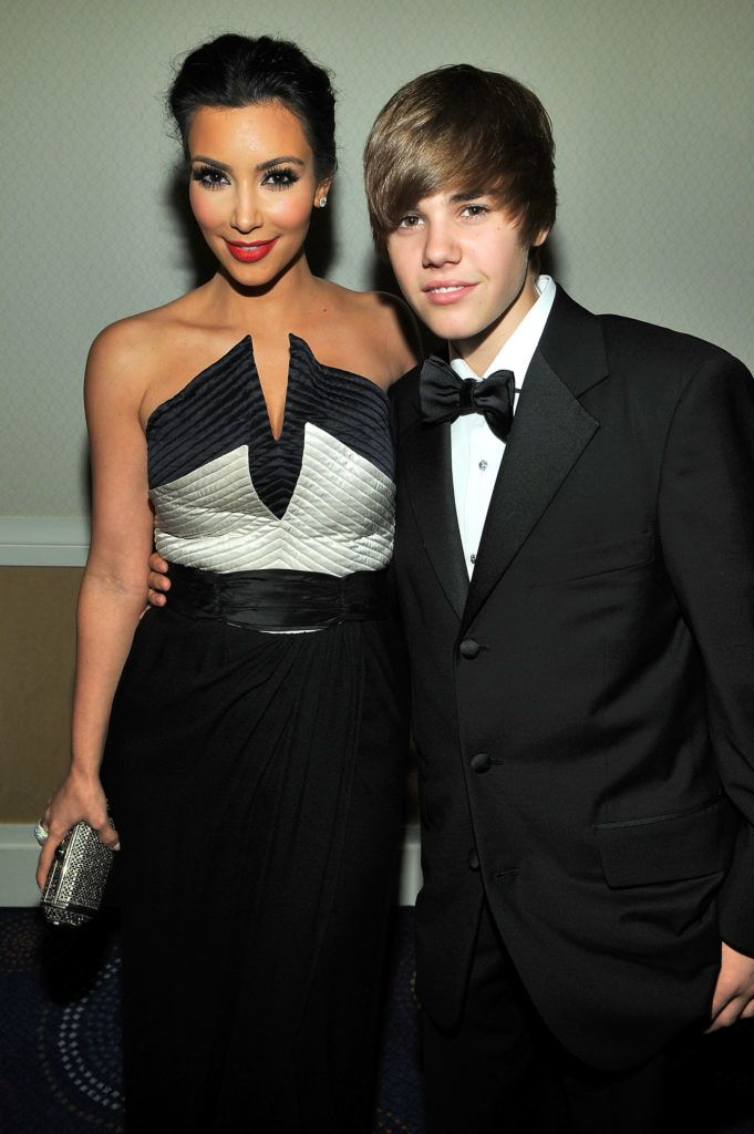 WASHINGTON - MAY 01:  Kim Kardashian and Justin Bieber attend the TIME/CNN/People/Fortune 2010 White House Correspondents' dinner pre-party at Hilton Washington Hotel on May 1, 2010 in Washington, DC.  (Photo by Larry Busacca/Getty Images for Time Inc)