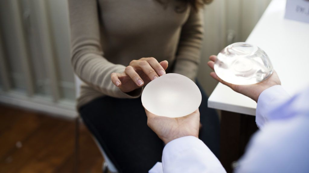 Woman planning to have a breast implant