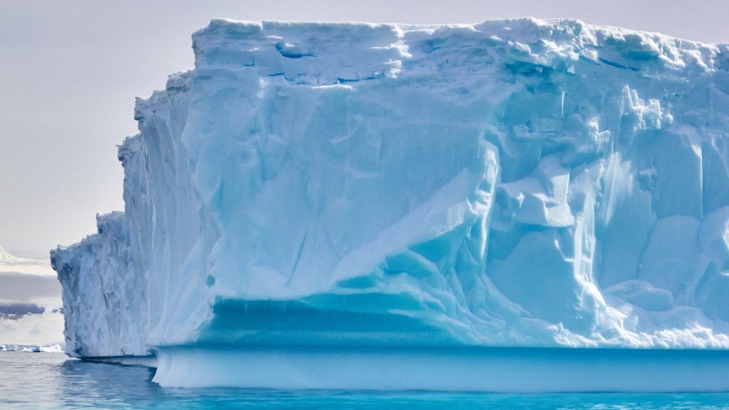 An iceberg in the waters of the Antarctic peninsula.