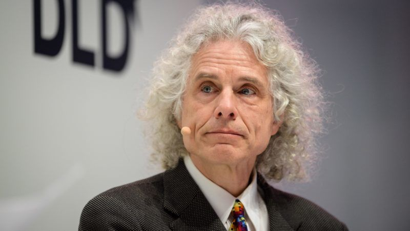 Steven Pinker, Psychologist and Cognitive Scientist at Harvard University, speaks at the innovation conference Digital-Life-Design (DLD) in Munich, Germany, 22 January 2018. The three-day conference aims to attract technological, political and cultural interest groups. Photo: Matthias Balk/dpa