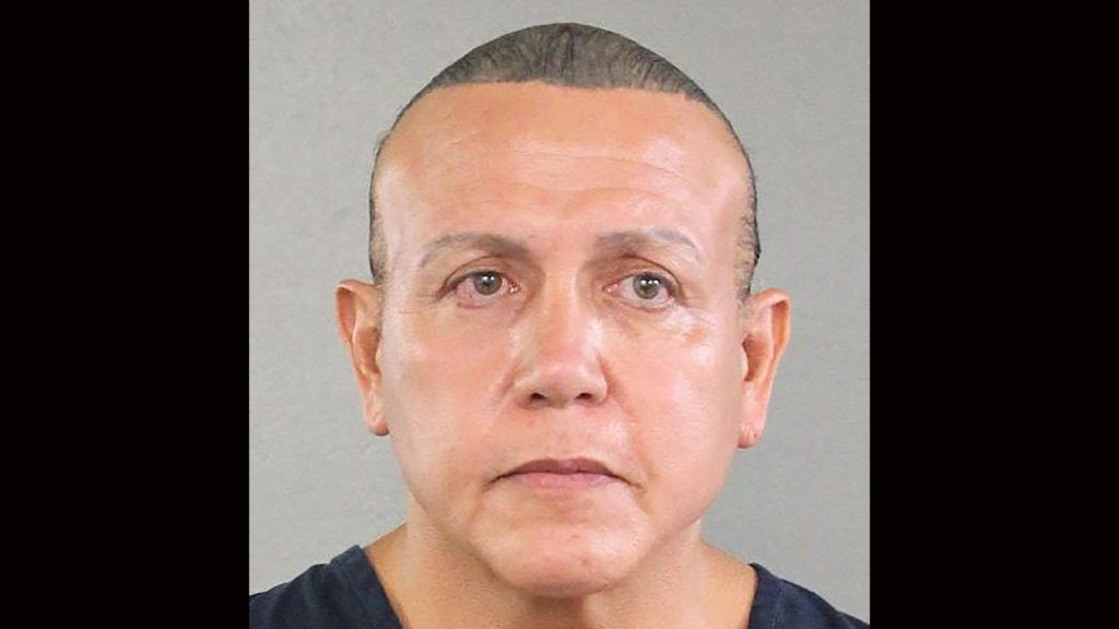 """This handout mugshot obtained courtesy of the Broward County Sheriff's Office shows an August 2015 booking photo of Cesar Sayoc, who the US media on October 26, 2018 identifies as the suspect in connection with 12 suspicious packages and pipe bombs sent to critics of US President Donald Trump. - US investigators have arrested the suspect in Florida in connection with 12 suspicious packages and pipe bombs sent to critics of Donald Trump in a days-long spree that has inflamed the United States ahead of key midterm elections. (Photo by HO / BROWARD COUNTY SHERIIF'S OFFICE / AFP) / == RESTRICTED TO EDITORIAL USE  / MANDATORY CREDIT:  """"AFP PHOTO /  BROWARD COUNTY SHERIFF'S OFFICE"""" / NO MARKETING / NO ADVERTISING CAMPAIGNS /  DISTRIBUTED AS A SERVICE TO CLIENTS  =="""