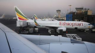 """--FILE--View of aircrafts of Ethiopian Airlines parked at the Addis Ababa Bole International Airport in Addis Ababa, Ethiopia, 25 December 2017.  Eight Chinese nationals, including one from Hong Kong, were confirmed aboard the crashed Ethiopian Airlines plane, according to the Chinese foreign ministry. """"We extend our profound condolences to the victims and deep sympathy to the bereaved families,"""" the ministry's spokesperson Lu Kang said late Sunday night in a statement. After learning the crash, the ministry ordered China's embassy in Ethiopia to launch the emergency response and immediately contact the Ethiopian government and Ethiopian Airlines for further information, Lu said. China hopes that the Ethiopian side will find out the cause of the air crash as soon as possible and keep China updated the investigation developments, he said."""