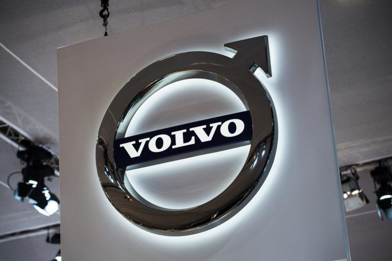 Illustration shows the logo of Volvo at the #WeAreMobility fair at the 97th edition of the Brussels Motor Show, at Brussels Expo, on Friday 18 January 2019, in Brussels. BELGA PHOTO DIRK WAEM