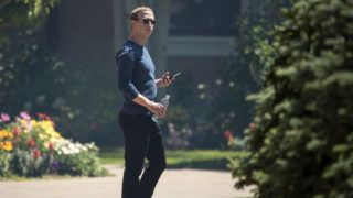 SUN VALLEY, ID - JULY 13: Mark Zuckerberg, chief executive officer of Facebook, attends the annual Allen & Company Sun Valley Conference, July 13, 2018 in Sun Valley, Idaho. Every July, some of the world's most wealthy and powerful businesspeople from the media, finance, technology and political spheres converge at the Sun Valley Resort for the exclusive weeklong conference.   Drew Angerer/Getty Images/AFP