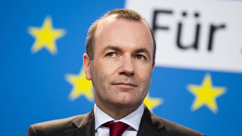 Leading Candidate of the European People's Party (EPP) for the European Elections Manfred Weber is pictured during a press conference after the approval of a joint CDU / CSU program in Berlin, Germany on March 25, 2019.  (Photo by Emmanuele Contini/NurPhoto)
