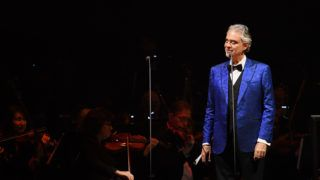 NEW YORK, NY - DECEMBER 13:  Italian singer-songwriter Andrea Bocelli in Concert at Madison Square Garden on December 13, 2018 in New York City.  (Photo by Nicholas Hunt/Getty Images)
