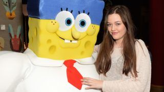 """attends """"The Spongebob Movie: Sponge Out of Water"""" UK Gala screening  on March 15, 2015 in London, England."""