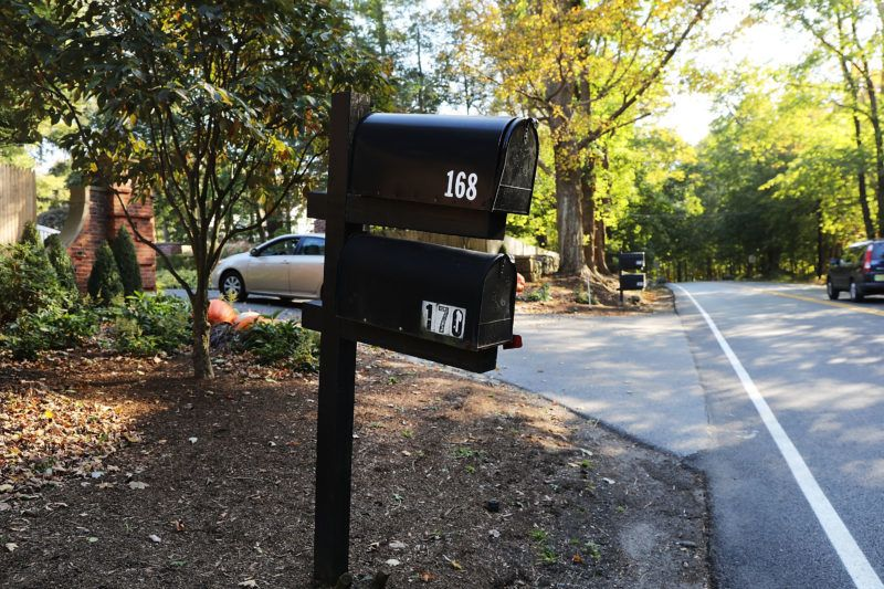 BEDFORD, NY - OCTOBER 23:  A mailbox stands in front of the Bedford residence of billionaire George Soros on October 23, 2018 in Bedford, New York. Police discovered an explosive device after responding to a call from an employee of the residence about a suspicious package in the mailbox. No one was hurt in the incident and Soros was not home at the time. Soros, a top donor to liberal causes around the world, has become a target of right-wing groups.  (Photo by Spencer Platt/Getty Images)