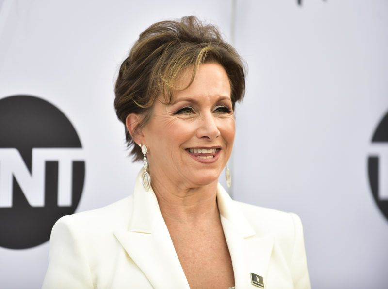 LOS ANGELES, CALIFORNIA - JANUARY 27: SAG-AFTRA President Gabrielle Carteris arrives at the 25th Annual Screen ActorsGuild Awards at The Shrine Auditorium on January 27, 2019 in Los Angeles, California. (Photo by Rodin Eckenroth/Getty Images)
