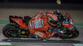 DOHA, QATAR - MARCH 09: Andrea Dovizioso of Italy and Ducati Team rounds the bend during the MotoGP of Qatar - Qualifying at Losail Circuit on March 09, 2019 in Doha, Qatar. (Photo by Mirco Lazzari gp/Getty Images)