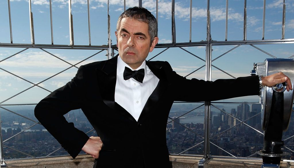 "NEW YORK, NY - OCTOBER 17:  Rowan Atkinson as ""Johnny English"" visits The Empire State Building on October 17, 2011 in New York City.  (Photo by Robin Marchant/FilmMagic)"