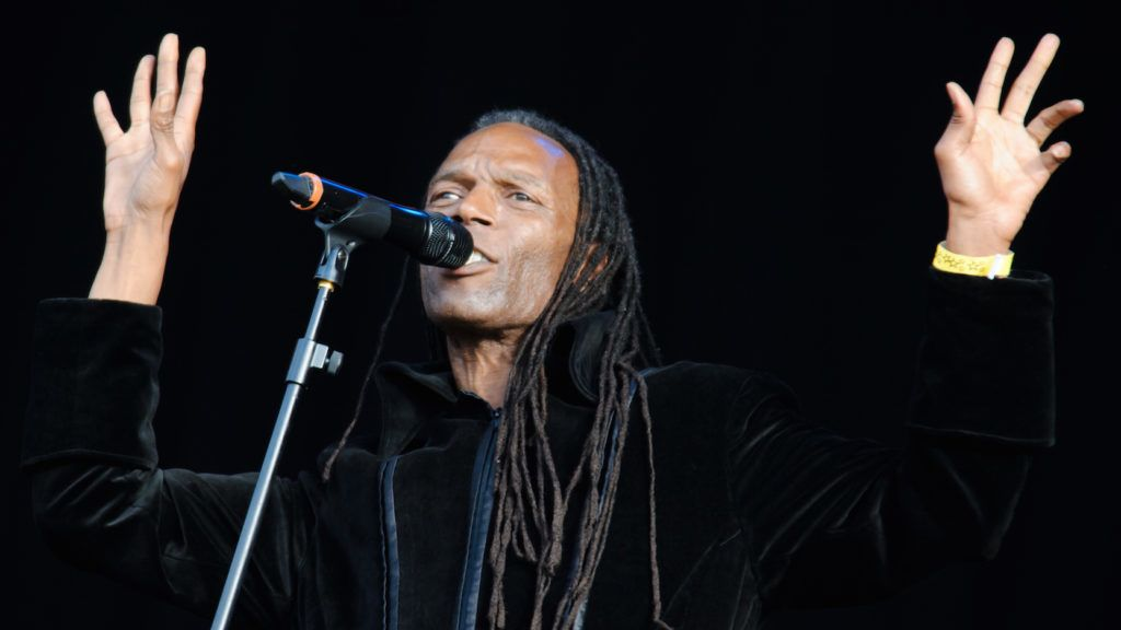LONDON, UNITED KINGDOM - AUGUST 01: Ranking Roger of The Beats performs at BT London Live at Hyde Park on August 1, 2012 in London, England. (Photo by Joseph Okpako/WireImage)