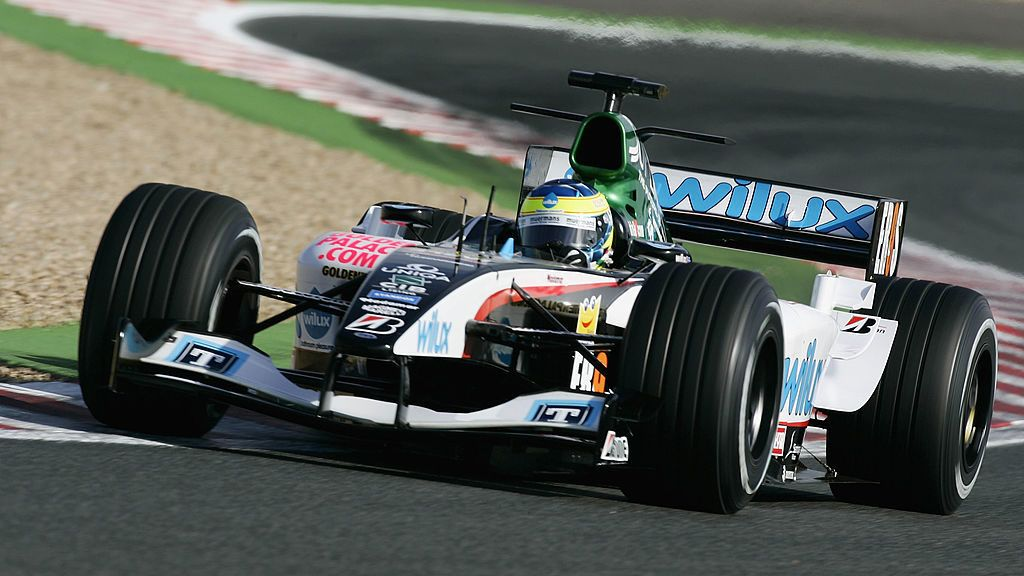MAGNY-COURS, FRANCE - JULY 3: Zsolt Baumgartner of Hungary and Minardi in action during the practice session prior to qualifying for the French F1 Grand Prix at the Magny-Cours Circuit on July 3, 2004, in Magny-Cours, France. (Photo by Mark Thompson/Getty Images)
