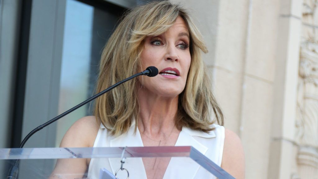 HOLLYWOOD, CA - APRIL 16:  Actress Felicity Huffman attends the ceremony to honor Eva Longoria with a Star on The Hollywood Walk Of Fame on April 16, 2018 in Hollywood, California.  (Photo by Paul Archuleta/FilmMagic)