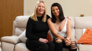 ***EMBARGOED - NO ONLINE USE UNTIL 14:00 GMT - 16/03/2019***  Beth Spiby, 23, quit her job to become a webcam model, asking her mum Jane, 52 (pictured), to be her first photographer, and now earns around £120k from it, pictured at home near Manchester. See SWNS story SWTPmoney; Beth Spiby, 22, used to work summers in Magaluf and winters at the gift shop at Marks until a colleague told her about selling naughty pics online. The former shop girl recruited her mum Jane, 53, an accountant, to help her take daily photos and videos - despite posing nude and in her undies for the explicit pics. ***EXCLUSIVE***
