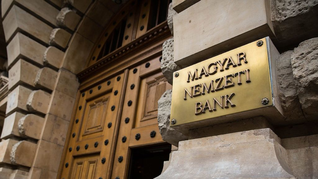 Image: 73649306, A Magyar Nemzeti Bank bej·rata., Place: Budapest, Hungary, License: Rights managed, Model Release: No or not aplicable, Property Release: Yes, Credit: smagpictures.com