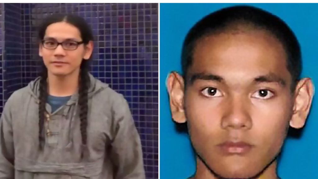 """These two handout photographs obtained April 29, 2019 from the Federal Bureau of Investigation (FBI) show Mark Steven Domingo, 26, a US Army veteran who was allegedly plotting a large-scale terror attack near Los Angeles as revenge for the recent mass shootings in Christchurch, New Zealand, has been arrested, authorities said Monday, April 29, 2019. - Mark Steven Domingo, who had combat experience in Afghanistan and professed to be Muslim, faces federal terror-related charges for plotting to detonate an improvised explosive device (IED) at a white nationalist rally in Long Beach this past weekend with the aim of causing mass casualties, officials said. (Photo by Handout / FBI / AFP) / == RESTRICTED TO EDITORIAL USE  / MANDATORY CREDIT:  """"AFP PHOTO /  FBI """" / NO MARKETING / NO ADVERTISING CAMPAIGNS /  DISTRIBUTED AS A SERVICE TO CLIENTS  =="""