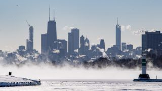 Scenes of a frozen Chicago are seen on January 30, 2019 in Chicago, Illinois. The record breaking temperatures are forecasted to reach below -25 degrees Fahrenheit into Friday. Wind chill advisories have been issued, along with the halt USPS mail deliver, school and municipal buildings closed, and Illinois Gov. J.B. Pritzker's announcement of a disaster proclamation. (Photo by Patrick Gorski/NurPhoto)