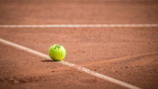 Tennis ball during  Warsaw - ITF Womens Circuit Tenis Tournament 2018  in Warsaw, Poland, on August 10, 2018. (Photo by Foto Olimpik/NurPhoto via Getty Images)