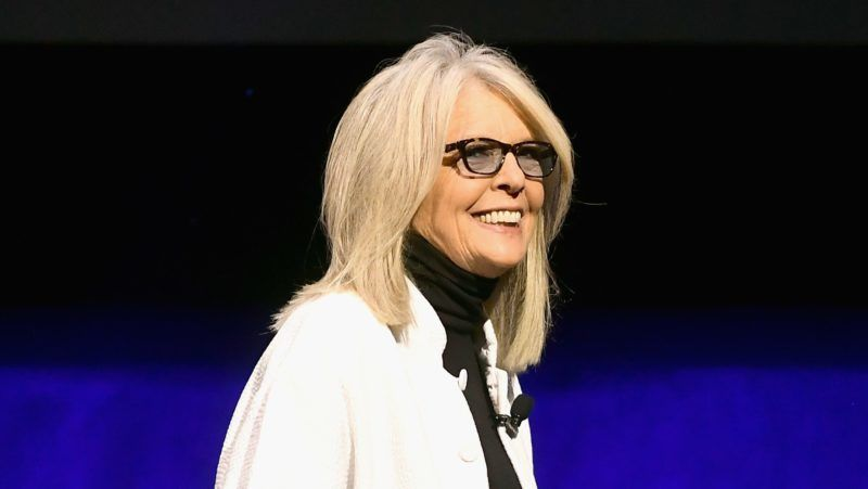 LAS VEGAS, NV - APRIL 02:  Diane Keaton speaks onstage at CinemaCon 2019 The State of the Industry and STXfilms Presentation at The Colosseum at Caesars Palace during CinemaCon, the official convention of the National Association of Theatre Owners, on April 2, 2019 in Las Vegas, Nevada.  (Photo by Matt Winkelmeyer/Getty Images for CinemaCon)