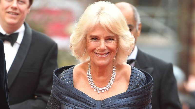LONDON, UNITED KINGDOM - APRIL 7: Camilla, Duchess of Cornwall arriving to attend the Olivier Awards at the Royal Albert Hall on April 7, 2019 in London. (Photo by John Stillwell - WPA Pool/Getty Images)