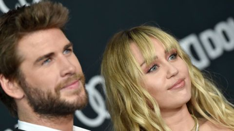 LOS ANGELES, CALIFORNIA - APRIL 22: Liam Hemsworth and Miley Cyrus attend the World Premiere of Walt Disney Studios Motion Pictures 'Avengers: Endgame' at Los Angeles Convention Center on April 22, 2019 in Los Angeles, California. (Photo by Axelle/Bauer-Griffin/FilmMagic)