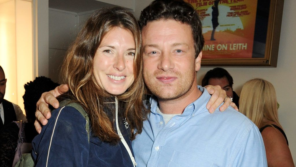 """LONDON, ENGLAND - SEPTEMBER 23:  Jools Oliver (L) and Jamie Oliver attend a special screening of """"Sunshine On Leith"""", hosted by Jamie Oliver and Dexter Fletcher, at BAFTA on September 23, 2013 in London, England.  (Photo by David M. Benett/Getty Images)"""