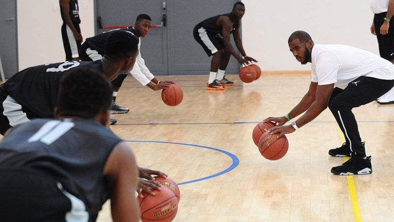 JOHANNESBURG, SOUTH AFRICA - JULY 29: NBA player Chris Paul during the Basketball Without Borders Africa training at American International School on July 29, 2015 in Johannesburg, South Africa. (Photo by Lefty Shivambu/Gallo Images/Getty Images)