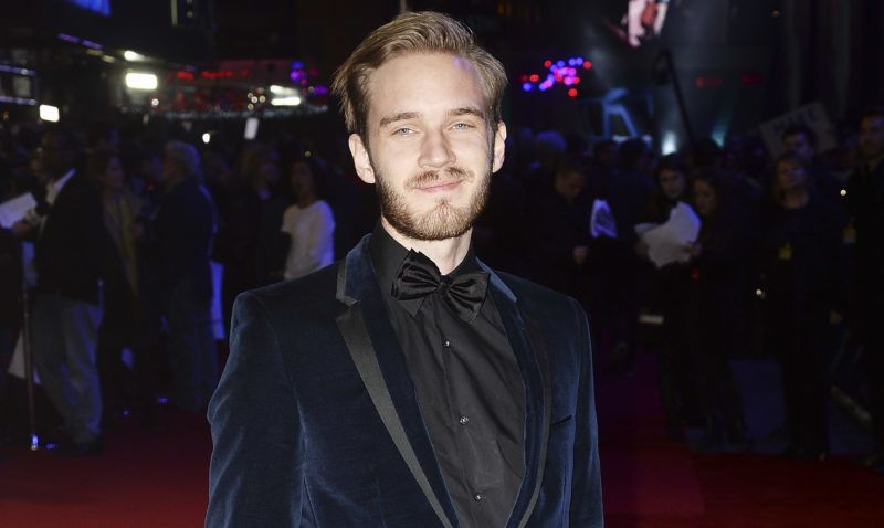 """LONDON, ENGLAND - DECEMBER 16:  PewDiePie attends the European Premiere of """"Star Wars: The Force Awakens"""" at Leicester Square on December 16, 2015 in London, England.  (Photo by Dave J Hogan/Dave J Hogan/Getty Images)"""