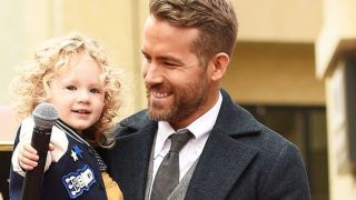 HOLLYWOOD, CA - DECEMBER 15:  Actor Ryan Reynolds (R) poses for a photo with his daughter, James Reynolds during a ceremony honoring him with a star on the Hollywood Walk of Fame on December 15, 2016 in Hollywood, California.  (Photo by Matt Winkelmeyer/Getty Images)