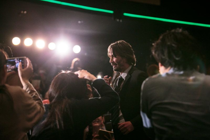 TOKYO, JAPAN - JUNE 13:  Keanu Reeves attends the Japan premiere of 'John Wick: Chapter 2' at Roppongi Hills on June 13, 2017 in Tokyo, Japan.  (Photo by Christopher Jue/Getty Images)