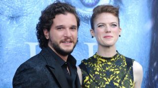 """LOS ANGELES, CA - JULY 12:  Actor Kit Harington and actress Rose Leslie attend the season 7 premiere of """"Game Of Thrones"""" at Walt Disney Concert Hall on July 12, 2017 in Los Angeles, California.  (Photo by Jason LaVeris/FilmMagic)"""