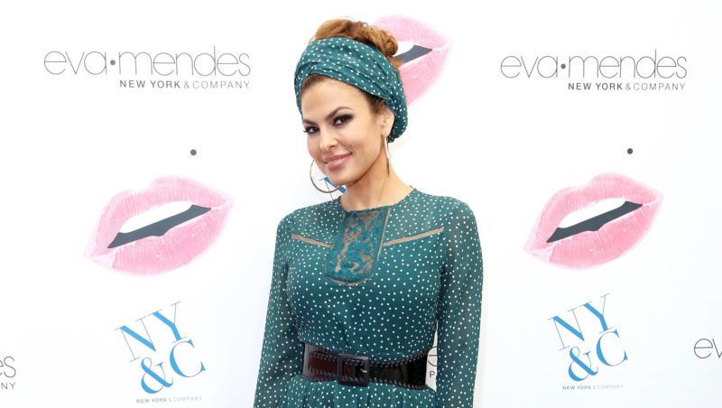 CERRITOS, CA - SEPTEMBER 14:  Eva Mendes launches her fall collection with new extended sizes at New York & Company in Los Cerritos Center on September 14, 2017 in Cerritos, California.  (Photo by Rachel Murray/Getty Images for New York & Company)